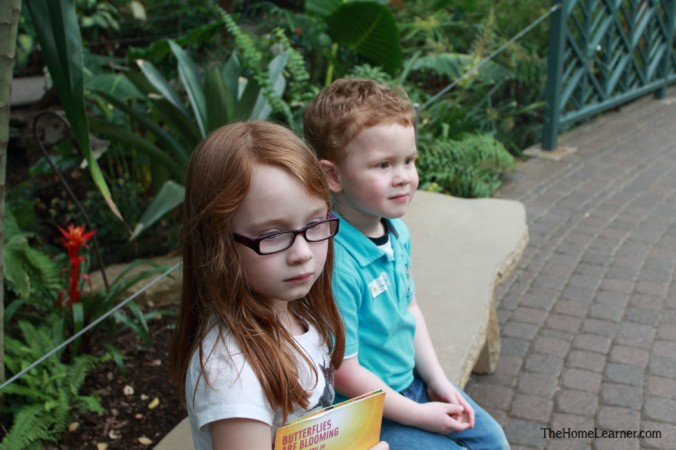 Joe and Graham at Butterfly Garden