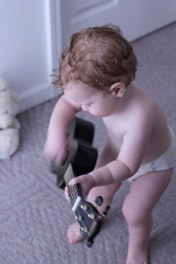 Toddler Jamming on a Uke