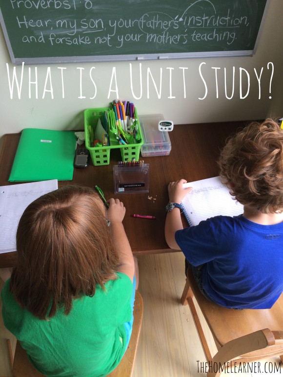 What is a unit study 1