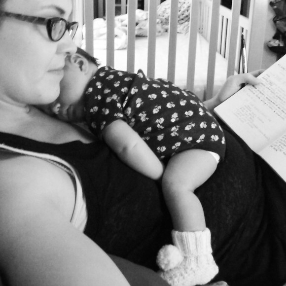 I'm writing a little bit while snuggling the newborn. It's possible; be creative!
